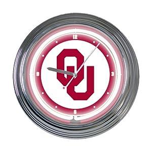 Memory Company Oklahoma Sooners 15 Neon Clock by The Memory Company