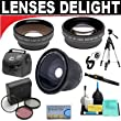 .42x HD Super Wide Angle Fisheye Lens + 2x Digital Telephoto Professional Series Lens + 0.5x Digital Wide Angle Macro Professional Series Lens + 3 Piece Digital Camera Filter Kit + 6-Piece Deluxe Cleaning Kit + Full Size Tripod + Deluxe Smart Shop UK Accessory Kit For The Olympus SP-590 Digital Camera