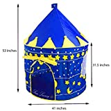 Boys Blue Prince Star Castle Play Tent For Kids Outdoor And Indoor Playhouse