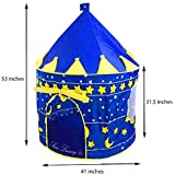 Boy's Blue Prince Star Castle Play Tent For Kids - Outdoor And Indoor Playhouse By Sure Luxury