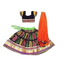 Aglare,Ethnic wear,Lehenga Choli floral,navratri,Garaba,,Gujarat,kutch,Baby Girl Lehenga choli,Kids Lehenga choli ,Lehenga choli for Girls,Ethnic wear,Lahenga choli for small girls ,(Full set Stitched)