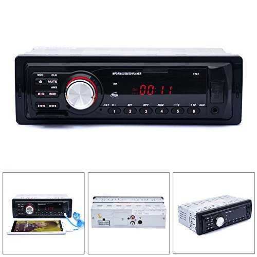 LING'S SHOP Car Audio Stereo In Dash FM Aux Input Receiver SD USB MP3 Radio Player