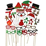 PBPBOX Photo Booth Props Christmas Decoration 62 Piece