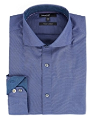 Autograph Pure Cotton Textured Tailored Fit Shirt
