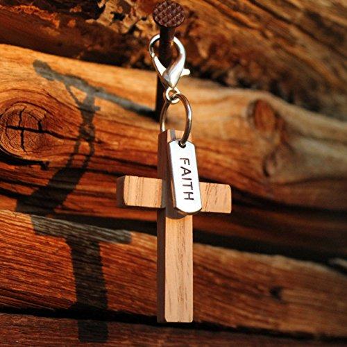 Wooden Cross Charm/Pendant/Key Chain Gift Pack for Christian Women and Men. WALKER'S FAITH-PACK Series #1: 2