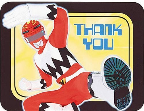 Power Rangers 'Red Ranger' Thank You Notes w/ Envelopes (8ct) - 1