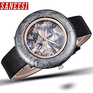 Quartz PU Leather Straps Casual Watch Lady Relogio feminino: Watches