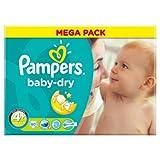 Pampers Baby Dry Pañales Tamaño 4+ Mega Pack 80Pañales