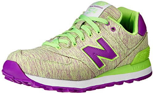 New Balance Women'S Wl574 Glitch Pack Running Shoe,Green/Purple,7.5 B Us