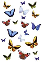 Butterflies - Static Art Decorations for Showers and Glass - Instant non-adhesive fixing & removing from Kleine Wolke