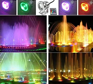 Amazon.com : LEMONBEST 16 Color Changing LED Pool Pond Fountain ...