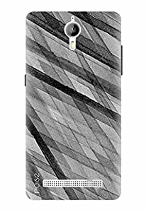 Noise Designer Printed Case / Cover for Panasonic P77 4G / Patterns & Ethnic / Greyscale Backdrop