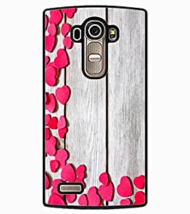ColourCraft Beautiful Hearts Pattern Design Back Case Cover for LG G4
