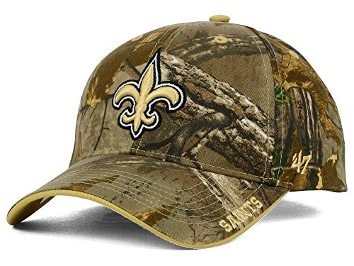 NFL New Orleans Saints '47 Frost MVP Camo Adjustable Hat, One Size Fits Most, Realtree Camouflage (New Orleans Saints Fan Gear compare prices)