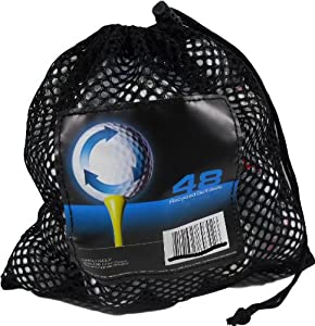 Precept 48 Recycled Golf Balls in Mesh Carry Bag by Nitro