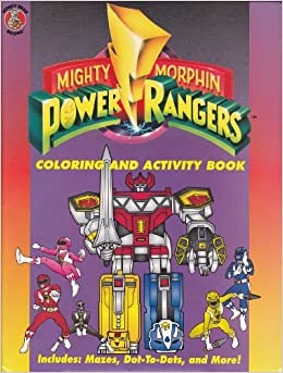 Mighty Morphin Power Rangers: Color and Activity Paperback – June