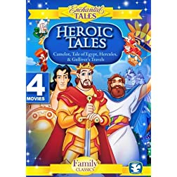 Heroic Tales (4 Disc Set) - Camelot, Gulliver's Travels, Tale of Egypt, Hercules