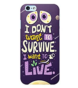 Printvisa Life Quote On A Move Background Back Case Cover for Apple iPhone 6 Plus
