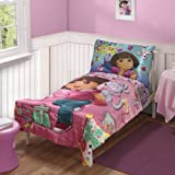 Dora Explorer Create Art Satin 4pc Toddler Bedding Set