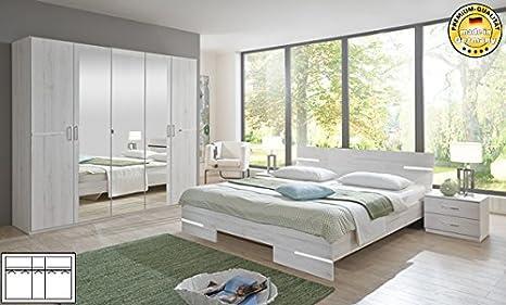 Schlafzimmer komplett 4-teilig 355658 weißeiche