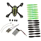 Hubsan Crash Pack for X4 H107C Quadcopter, Includes Body Shell, 8x Pair of Black and Green Propellers, Flight Battery, 4x Rubber Feet, 2x Motors, Black/Green
