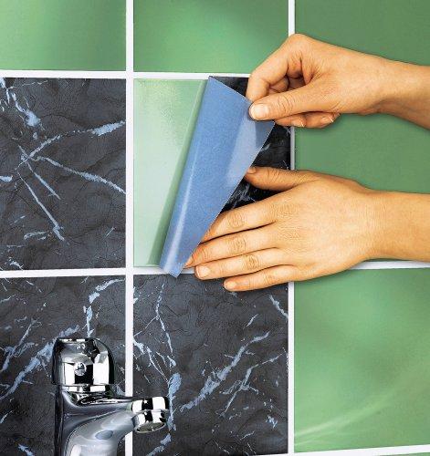 marmor fliesensticker fliesendekor 10x10 fliesen fliesenaufkleber aufkleber bvh. Black Bedroom Furniture Sets. Home Design Ideas