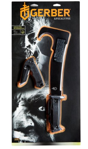 Gerber 31-002103 Apocalypse Deterrence Kit Including Gator Machete Pro and DMF Manual Folding Knife