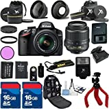Nikon D3200 Black Camera with Nikon 18-55mm VR Lens Al's Variety Premium Bundle with Deluxe Backpack + XIT 3Pc Filter Kit + XIT Wide Angle Lens + XIT Telephoto Lens + Spider Flexible Tripod + Extra High Capacity Battery + Extra AC/DC Rapid Charger + 2pcs