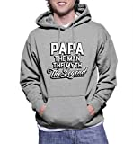 img - for HAASE UNLIMITED Mens Papa The Man The Myth The Legend - B - Father's Day Gift Hoodie Sweatshirt (Large, LIGHT GRAY) book / textbook / text book