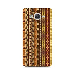 Motivatebox - Orange Tribal Strips Samsung Galaxy On 5 cover - Polycarbonate 3D Hard case protective back cover. Premium Quality designer Printed 3D Matte finish hard case back cover.