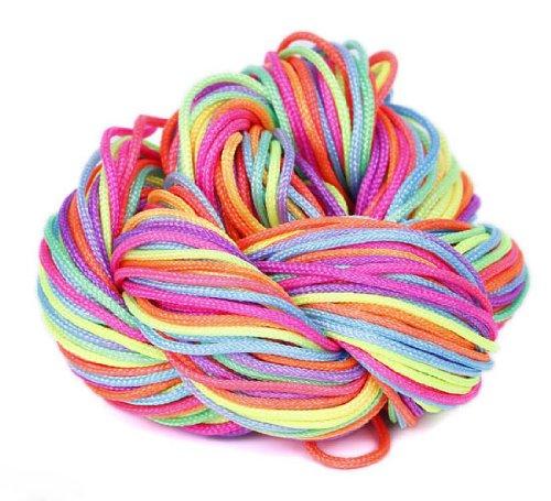 Выбрать веревку EOZY многоцветная торговых судов (большой диаметр 1 мм) красочные 27 м (Pack из глянцевой строк) нейлон строки браслеты, ножные браслеты и Китай, Ремёсла, ручной работы пусть NI10.