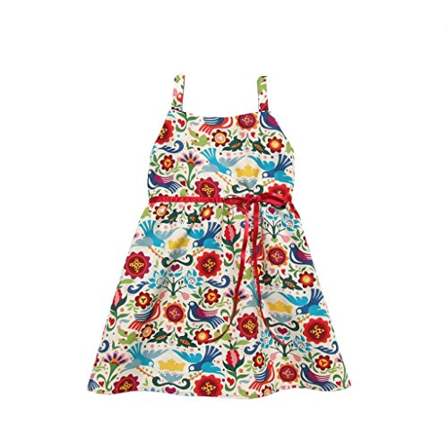 Kid's Hemet Mexican Palomas Halter Dress Red