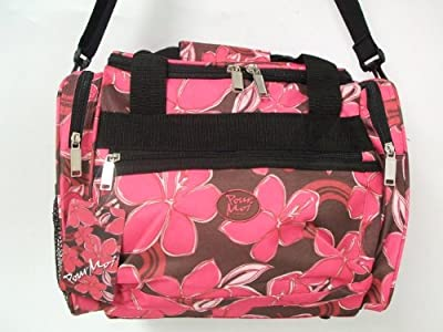 "15"" Pink Floral Pour Moi Ladies Girls Sports Gym Holdall Onboard Flight Cabin Bag from Jazzi Pour Moi"