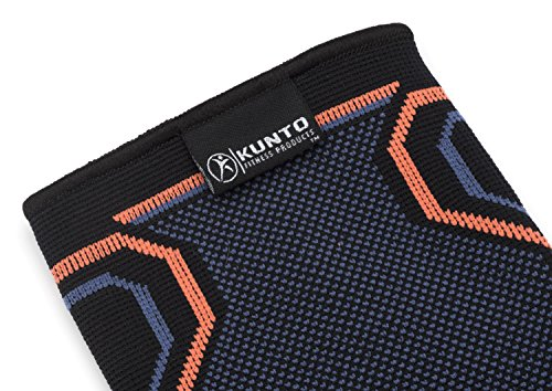 Calf Compression Sleeve by Kunto Fitness (Single Sleeve) - Improve Blood Circulation & Reduce Leg Swelling & Shin Splint - Superior Fit (Large)