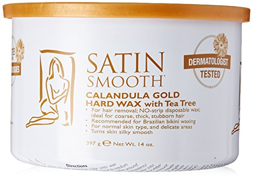 Satin Smooth Calendula Gold Hard Wax with Tea Tree Oil, 14 Ounce (Satin Smooth Wax compare prices)