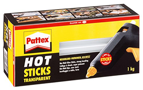 Pattex Stick colla a caldo Hot Sticks, 1 kg, transparente