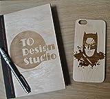 Batman Unique Handmade Real Wood Hard Cover Slim Wooden Case iPhone 6/6s plus...