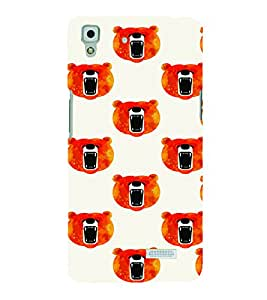 PrintVisa Cute Cartoon Teddy Bear 3D Hard Polycarbonate Designer Back Case Cover for Oppo R7
