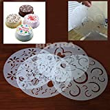 leadingstar NEW DURABLE 4 Pcs Round Cake Fondant craft Decorating Cutter Flower Heart Sugarcraft Mold