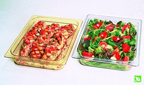 Rubbermaid 1/2 de Gastronorme Coque rigide avec trous de cheville Size 1/2 claire