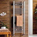 Georgia Chrome Curved Towel Rail Radi...