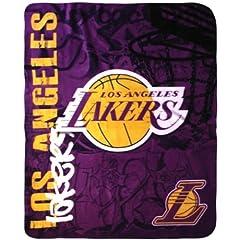 Buy NBA Los Angeles Lakers 50 x 60 Hard Knocks Fleece Throw Blanket by Northwest