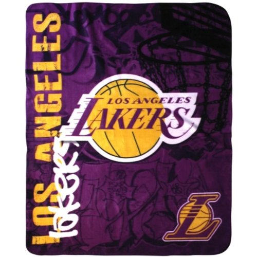 Los Angeles Lakers Nba Blanket Throw 50x60 Basketball La