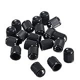 Outus 20 Pack Tyre Valve Dust Caps for Car, Motorbike, Trucks, Bike, Bicycle (Black)