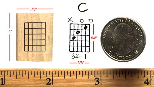 Mini Guitar Chord Stamp (5 Frets) Rubber Stamp (One Direction Guitar Accessories compare prices)