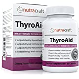 Thyroid Support Supplement - Natural Herbal Formula With L-Tyrosine, Kelp (Iodine) and Ashwaganda (Withania) to Support a Healthy Metabolism, Reduce Fatigue and Promote Weight Loss - 60 Capsules