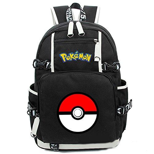 Cuero-de-la-vaca-Piel-Cartera-Multi-bolsillos-Monedero-Cartera-fina-hombre-Anime-Purse-Pokemon-Go-Bag-Pikachu-Mochila-Negro-objetivo