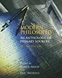 Modern Philosophy: An Anthology of Primary Sources, 2nd Edition