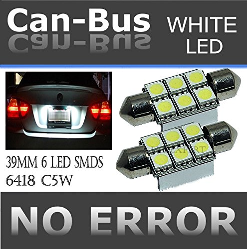 CANBUS LED 6SMDS HYPER White 6418 C5W Error Free License Plate Lights Bulbs (Mercedes E320 Fog Light compare prices)