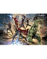 1art1 60259 Avengers Poster SuperHéros en Action Marvel Studios 91 x 61 cm